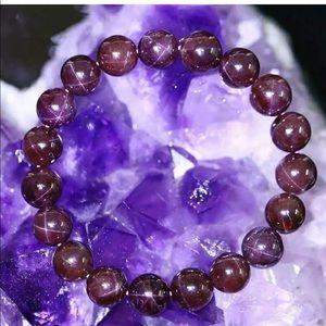 AAA red wine garnet star bead bracelet